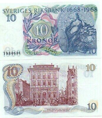 P Sweden 10 Kronor P 56a 1968 UNC Commemorative Low Shipping Combine FREE 56