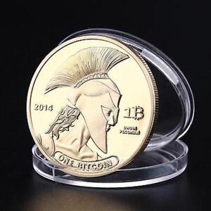 Gold-Plated-Titan-Bitcoin-Commemorative-Coin-BTC-Collectible-Collection-Physica