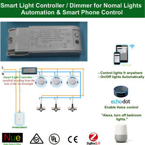 smart light controller dimmer for google home mini echo alexa voice control ebay. Black Bedroom Furniture Sets. Home Design Ideas