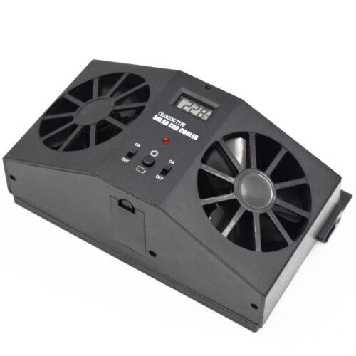 Univerasl Solar Dual Fan Car Front//Rear Window Air Vent Cool Cooler Fan Durable