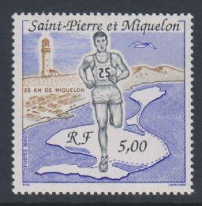 St Pierre & Miquelon - 1990, 5f miquelon 25km Race stamp - MNH - SG 648