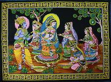 Indian Radha Krishna Holi Rass Sequined Wall Hanging * Fair Trade * Large