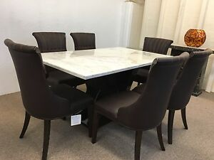 Marble Dining Table and Chairs   100% genuine marble  Unbeatable ... d1477bb661c4