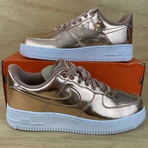 """Nike W Air Force 1 SP """"Metallic Rose Gold"""" Mens  [Sz 10] Shoes NEW"""
