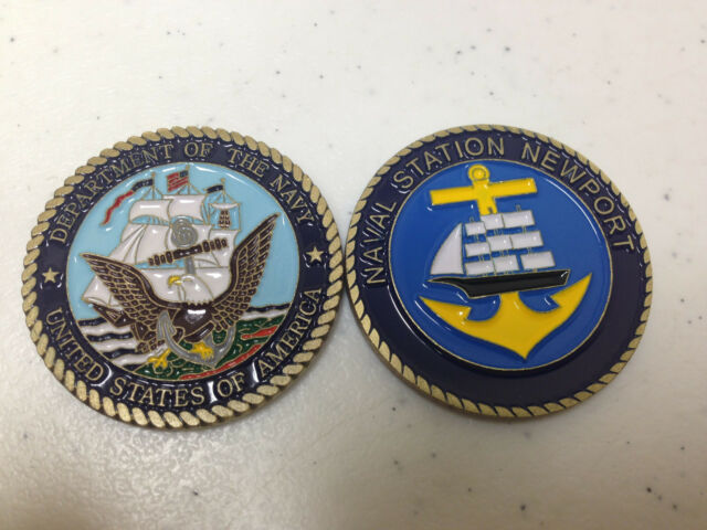 Department Of The Navy Naval Station Newport Challenge Coin Ebay