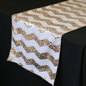 14 x 108 inch chevron sequin table runners white and blush for 108 inch table runners