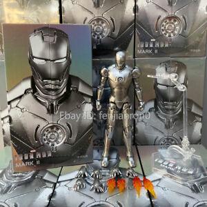IN-STOCK-ZD-TOYS-Iron-Man-MK-2-Mark-II-7-Action-Figure-Marvel-Avengers-MCU