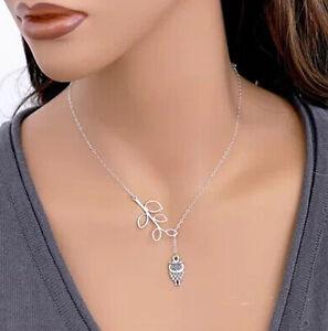 Damen Halskette Eule
