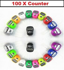 100 X Digital anillo de dedo Tally Counter Fila contador tasbeeh trabajo Lote Mayorista  </span>