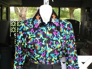 Glamour Shirt Girls Turquois Sequin Western Rail Trail Pleasure Rodeo Queen