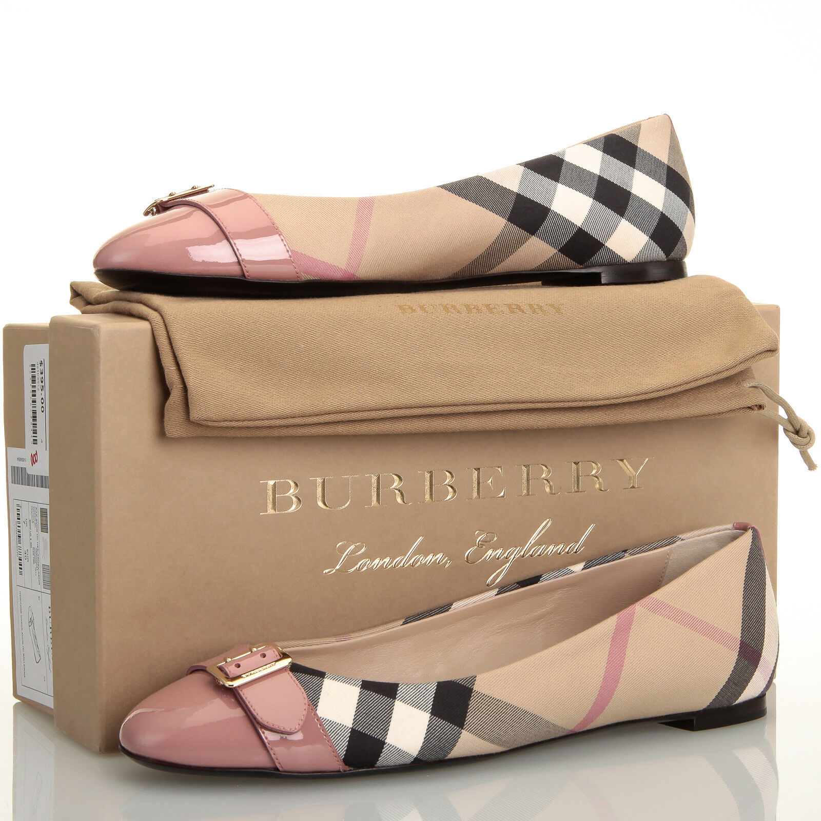 Burberry Avonwick Beige Nude Pink Flat Shoes - Womens US 10 ()
