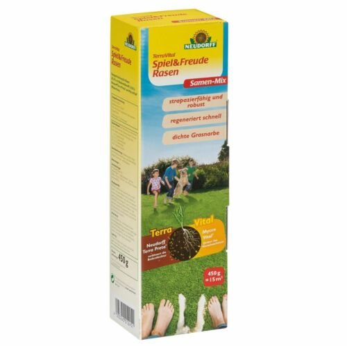 Neudorff TerraVital Spielrasen Freude Rasen Rasensaat Gras Nachsaat Rasensamen