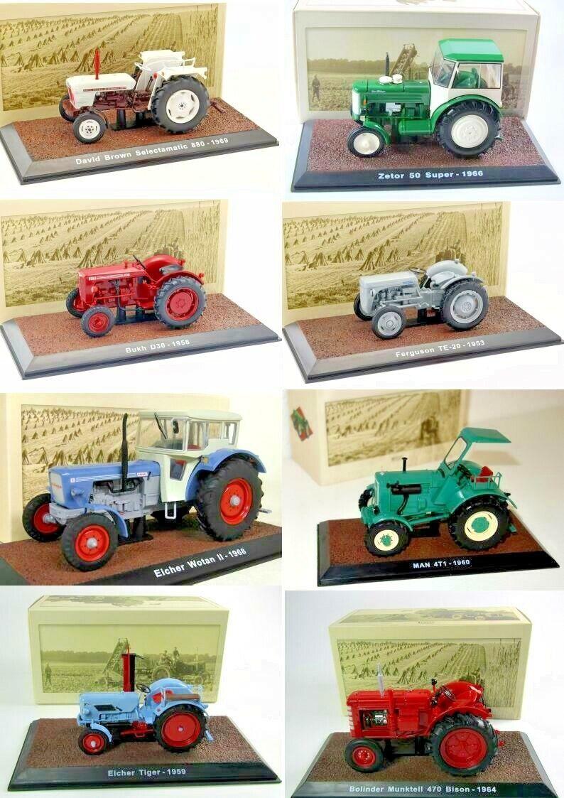 PROMO Lot 8 TracteurTractor Vintage Atlas Echelle 132 Diecast Neuf Boite