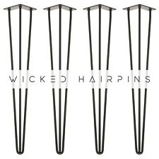 Hairpin Table Legs With Fixings - ALL SIZES | Premium UK Crafted In All  Colours
