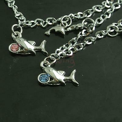 Women Heart Stylish Stainless Steel Dolphin Wrist Bracelet Valentine's Day