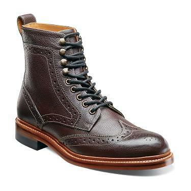 Stacy Adams Men's Madison II Ox Blood Wing tip Boots 00064-603