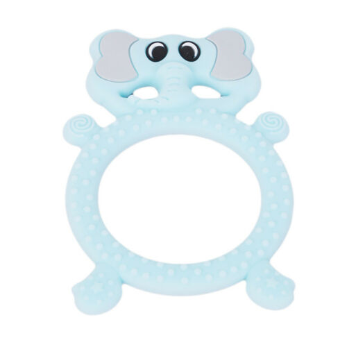 Baby Teether Cute Silicone Elephant Teething Toys for Toddler Infant Gift