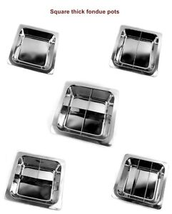 33CM Stainless Steel Thick Square Fondue Pots Divided Duck Hot Pan Grid Soup Pot