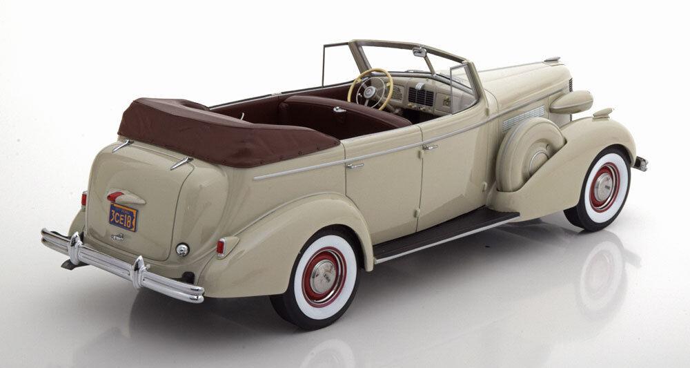 1937 Buick Roadmaster 80-C Quatre Porte Phaeton Gris Gris Gris par Bos Modèles le 252 1/18 | New Style  b44a69