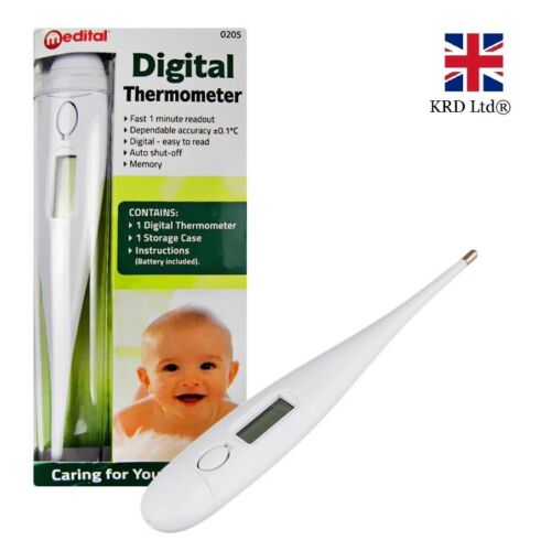 LCD DIGITAL AUDIBLE THERMOMETER Temperature Fever Adults Kids Baby Oral Underarm