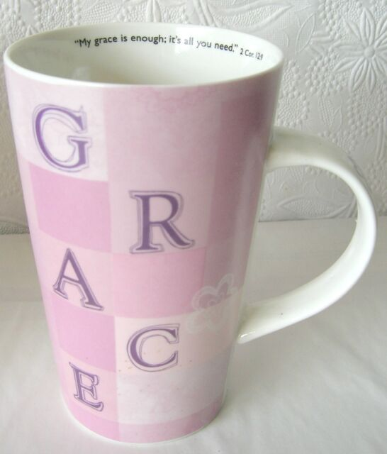 GRACE Scripture Mug Cup Christian Arts Gifts New in Box