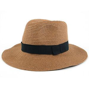 4a7eaa688097cc Pop Fashionwear Women's Wide Brim Fedora Hat Spring Summer 126SH | eBay