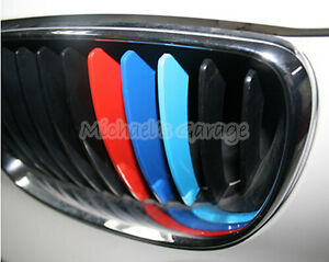 BMW Kidney Front Grill M Sport Color Stripe Car Sticker Decal - Bmw grille stripe decals