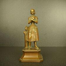 Jeanne d'Arc sculpture en bronze Sainte catholique H:15 cm Joan of holy Catholic