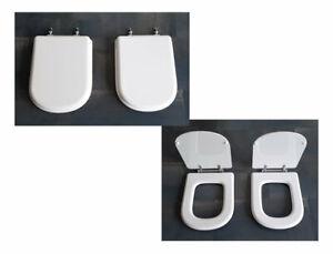 Sedile Wc Ideal Standard Calla.Copriwater Coperchio Wc Sedile Bagno Per Calla Bianco E Bianco Ideal Standard Ebay