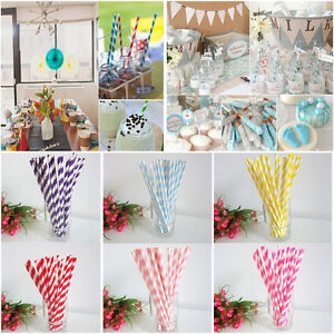 25-Pc-Multi-Color-Striped-Biodegradable-Paper-Drinking-Straws-Wedding-Decoration