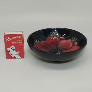 Walter-Moorcroft-England-Anemone-on-Blue-small-footed-bowl-c-1970