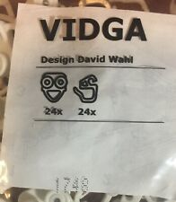 IKEA Kvartal 24er Glider Hook White Curtain Accessories Sliding for