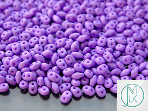 10 G Tchèque Superduo Twin Beads Silk Matt Violet Foncé-afficher Le Titre D'origine Prix ModéRé