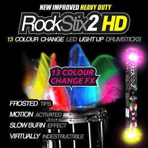 Rockstix 13fx Color Change Motion Activated Led Light Up Drumsticks Drum Sticks Ebay