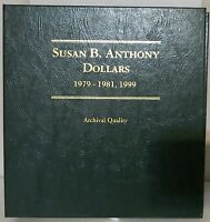 Susan B. Anthony Dollars 1979-1981, 1999 Coin Collector Album - - Littleton