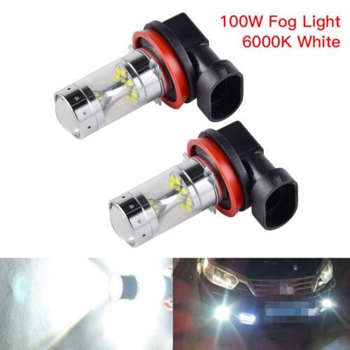 H16 LED Fog Light Bulbs For Toyota Corolla 4Runner RAV4 100W 2400LM 6000K White