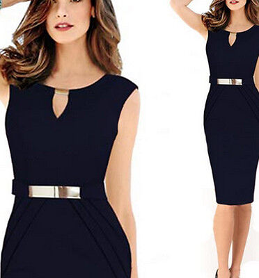 Sexy Women Summer Bodycon Business Party Cocktail Evening Pencil Dress Dresses