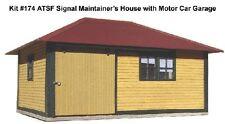 American Model Builder Laser Cut Wood HO House For Signal Mountainer Motor Car