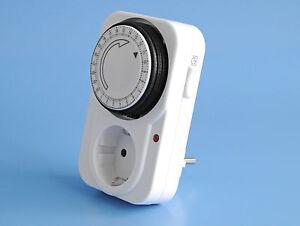 zeitschaltuhr 24 stunden zeitschaltung kindersicherung schalter rolladen timer ebay. Black Bedroom Furniture Sets. Home Design Ideas
