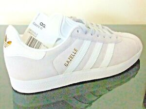 ADIDAS-GAZELLE-SHOES-TRAINERS-UK-SIZE-3-5-8-GREY-WHITE-B41659