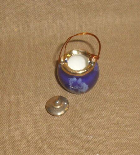 hermoso diseño-ha fallado en miniatura de casa de muñecas 1:12 Blauer olla con tapa
