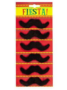 """Kostüme & Verkleidungen Accessoires 6 Schnurrbärte """"fiesta"""" Party Accessoires"""