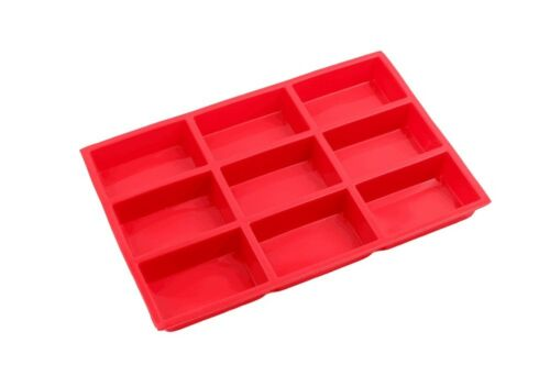 9 Cup Silicone Mini Cake Loaf Pan Food Grade Brownie Mold Homemade Soap Mould
