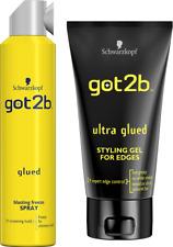 Duo Got2b Glued Blasting Freeze Spray 300ml+ Ultra Glued Styling Gel/Edges 150ml