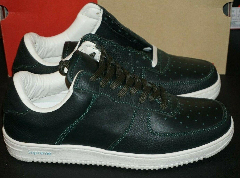 2001 Supreme Downlow scarpe da da da ginnastica Dimensione 9.5 verde Brand New 6801b9