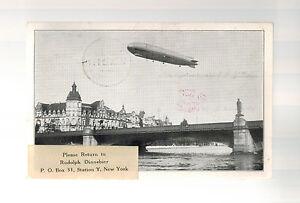 1929 Deutschland Graf Zeppelin Welt Flight Echt Picture Postkarte Abdeckung zu