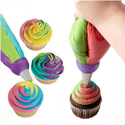 Icing Piping Decorating Nozzle Converter Adapter Fondant Cake Baking Tool NEW DR