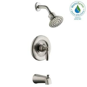 Bon Details About Mandouri Single Handle 1 Spray Tub And Shower Faucet In  Brushed Nickel (Valve In