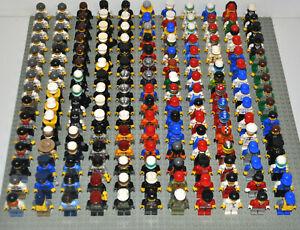 Lego-Figuren-18x-korrekt-zusammengesetzt-inkl-Kopfbedeckung-Berufe-City-Town
