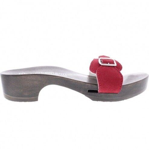 Berkemann   Hamburg-Sandale   Rot Veloursleder   Sohle  Braun   Art  10102-250    | Angenehmes Aussehen  | Spielzeugwelt, fröhlicher Ozean  | Elegant Und Würdevoll